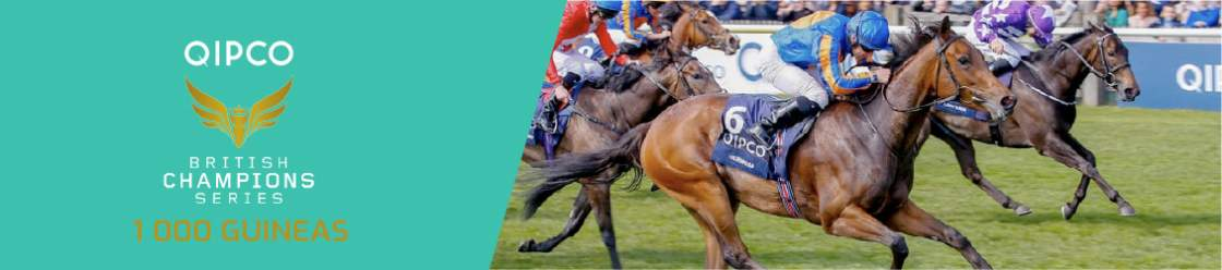 Riders on their horses racing in the Guineas 2000