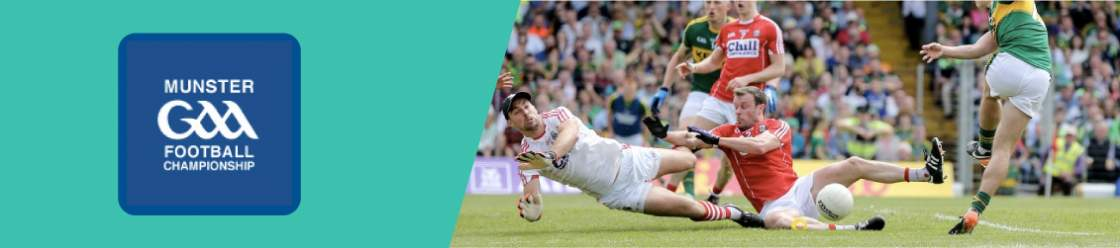 Original-banner-featuring-the-GAA-Munster-Football-Championship-coat-of-arms-next-to-an-image-of-a-player-tacling-his-opponent