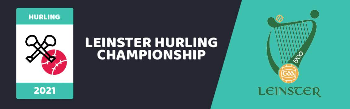 """Original banner featuring a hurling stick and ball next to the words """"Leinster Hurling Championship"""" and the events Logo"""