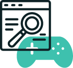computer browser - search online - games controller